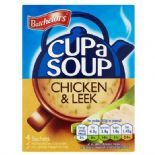 Batchelors Cup A Soup Chicken & Leek  4 Pack 86g